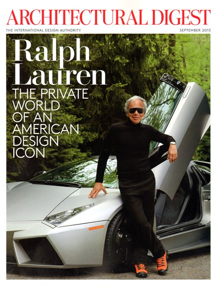 Architectural Digest Cover - 9/1/2013