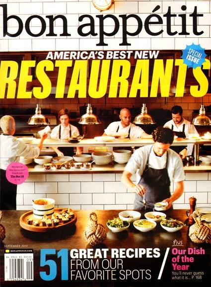 Bon Appétit Cover - 9/1/2013