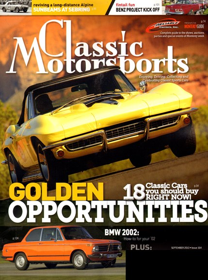 Classic Motorsports Cover - 9/1/2013