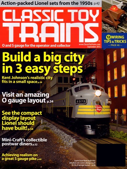 Classic Toy Trains Cover - 9/1/2013