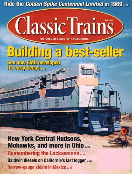 Classic Trains Cover - 9/1/2013