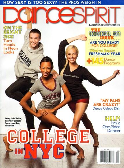 Dance Spirit Cover - 9/1/2013