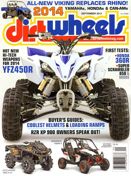 Dirt Wheels Cover - 9/1/2013