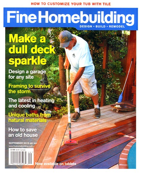 Fine Homebuilding Cover - 9/1/2013