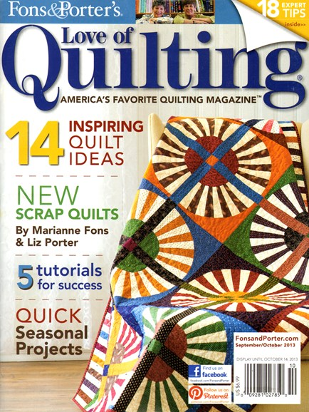 Fons & Porter's Love of Quilting Cover - 9/1/2013