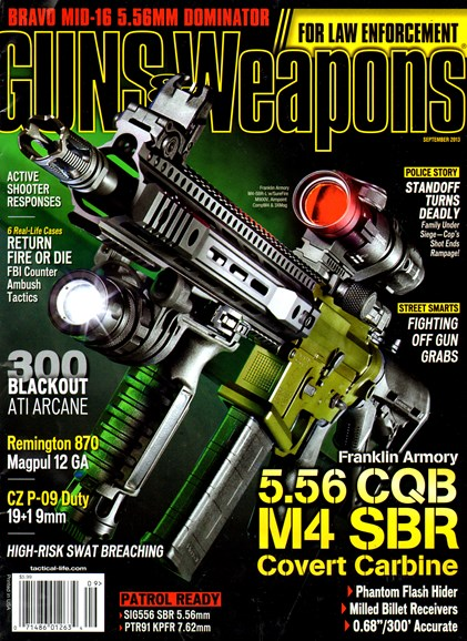 Guns & Weapons For Law Enforcement Cover - 9/1/2013