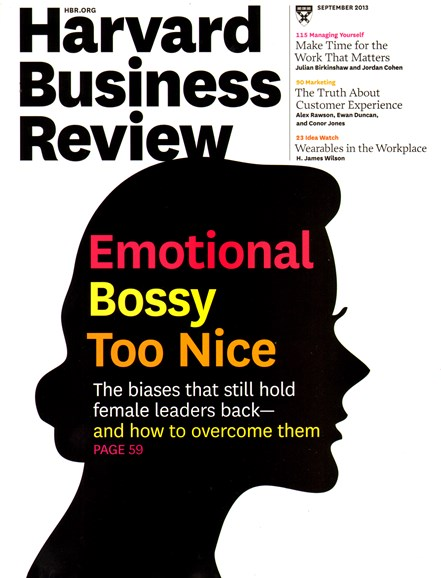 Harvard Business Review Cover - 9/1/2013