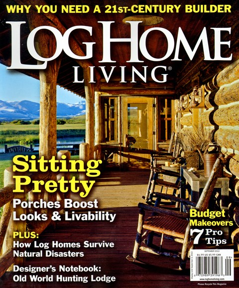 Log and Timber Home Living Cover - 9/1/2013