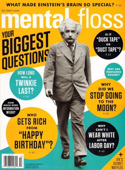 Mental Floss Cover - 9/1/2013