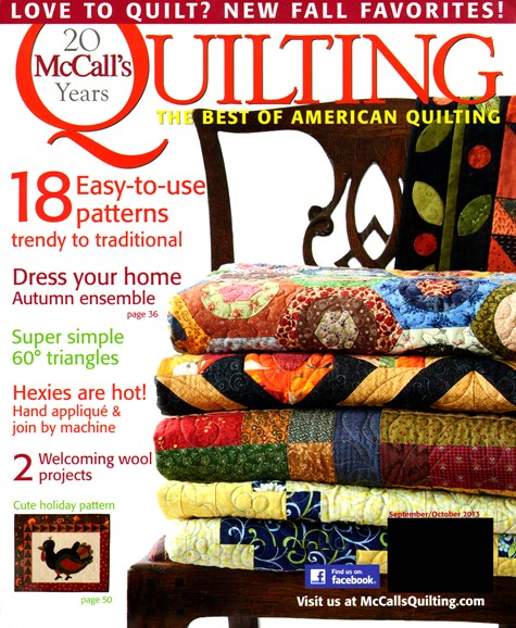 McCall's Quilting Cover - 9/1/2013