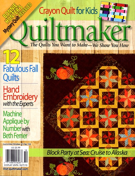 Quiltmaker Cover - 9/1/2013