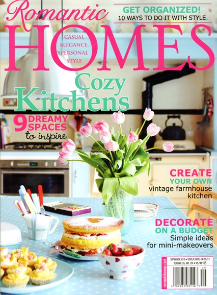Romantic Homes Cover - 9/1/2013