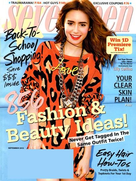 Seventeen Cover - 9/1/2013