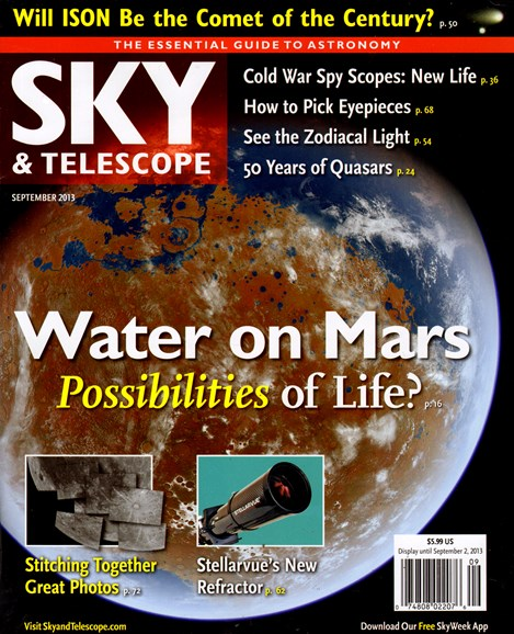 Sky & Telescope Cover - 9/1/2013