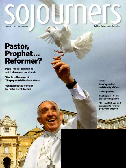 Sojourners Cover - 9/1/2013