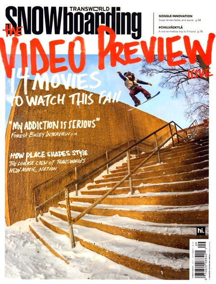 Transworld SNOWboarding Cover - 9/1/2013