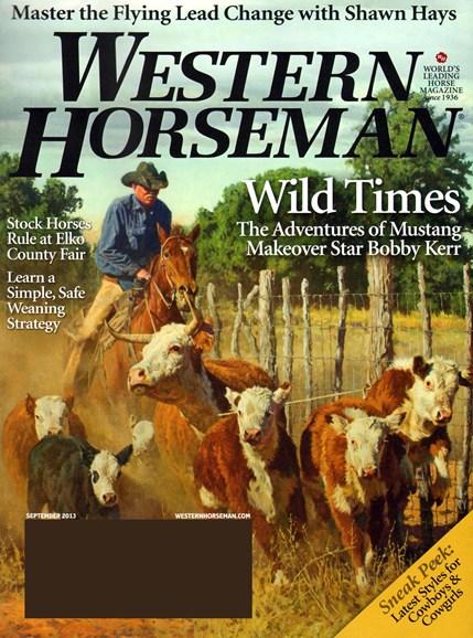 Western Horseman Cover - 9/1/2013