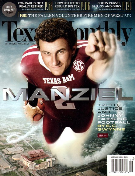 Texas Monthly Cover - 9/1/2013