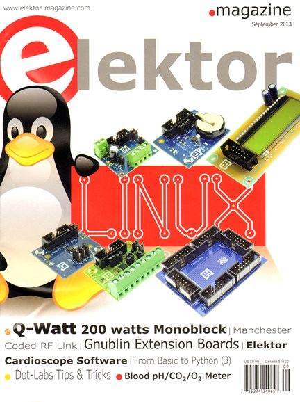 Elektor - North American Edition Cover - 9/1/2013