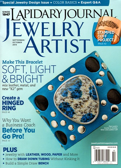 Lapidary Journal Jewelry Artist Cover - 9/1/2013