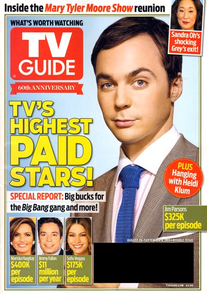 TV Guide Cover - 8/26/2013