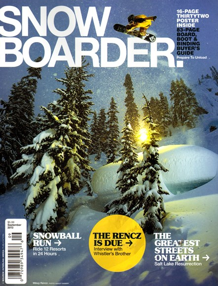 Snowboarder Cover - 9/1/2013