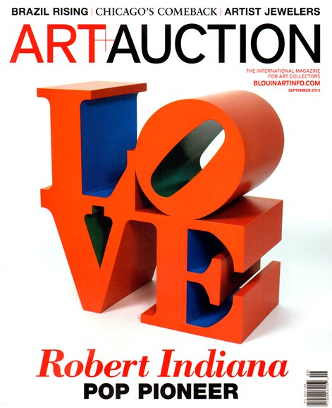 Blouin Art & Auction Cover - 9/1/2013
