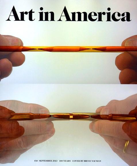 Art In America Cover - 9/1/2013