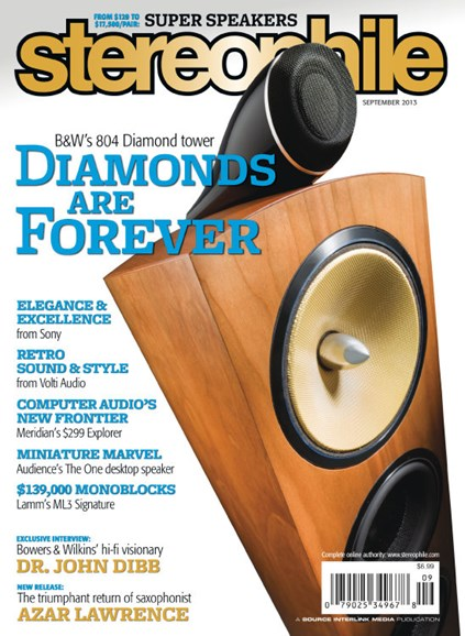 Stereophile Cover - 9/1/2013
