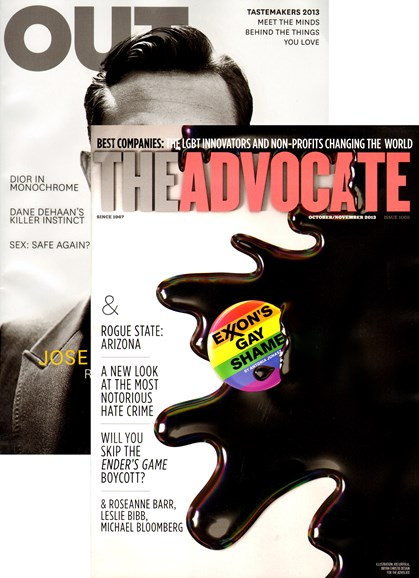 Out & The Advocate Edition Cover - 10/1/2013