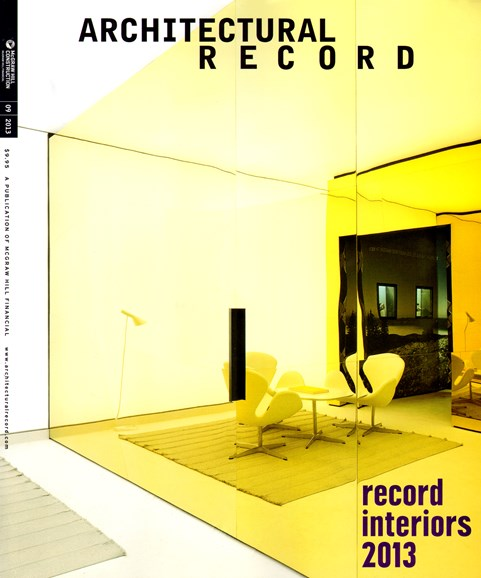 Architectural Record Cover - 10/1/2013
