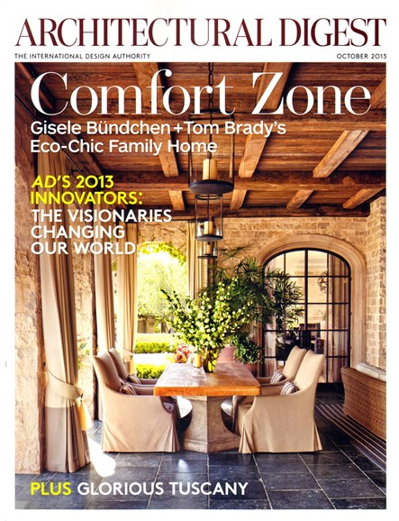 Architectural Digest Cover - 10/1/2013