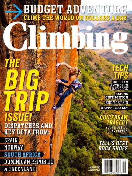Climbing Magazine Cover - 10/1/2013
