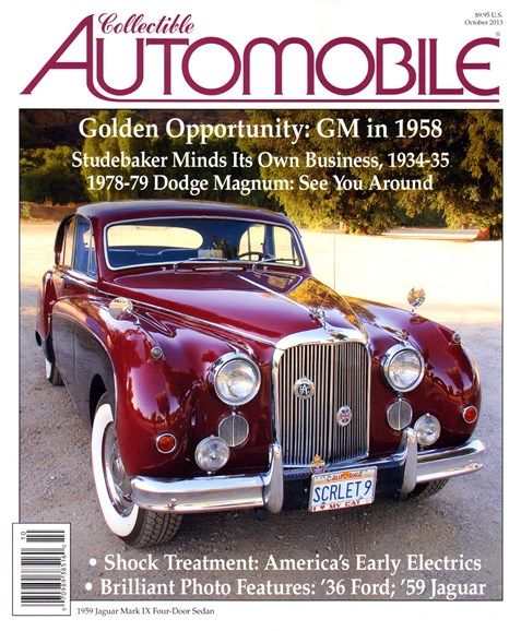 Collectible Automobile Cover - 10/1/2013