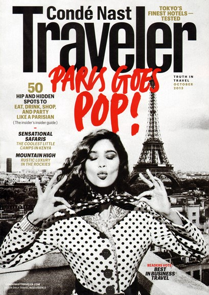 Condé Nast Traveler Cover - 10/1/2013