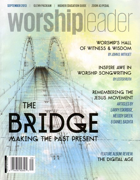 Worship Leader Magazine Cover - 10/1/2013