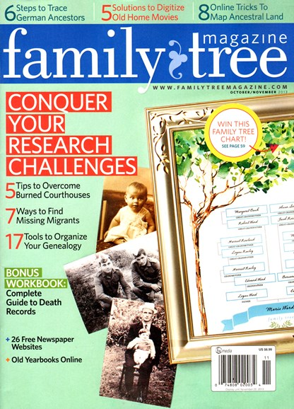 Family Tree Cover - 10/1/2013