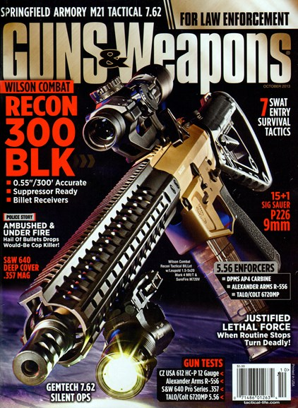 Guns & Weapons For Law Enforcement Cover - 10/1/2013