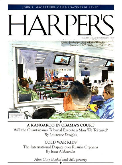 Harper's Cover - 10/1/2013