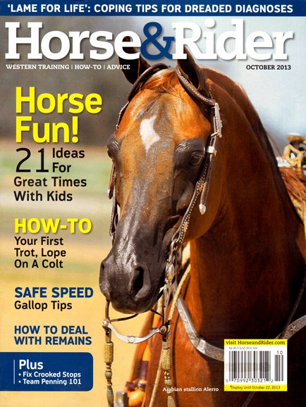 Horse & Rider Cover - 10/1/2013