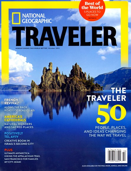 National Geographic Traveler Cover - 10/1/2013
