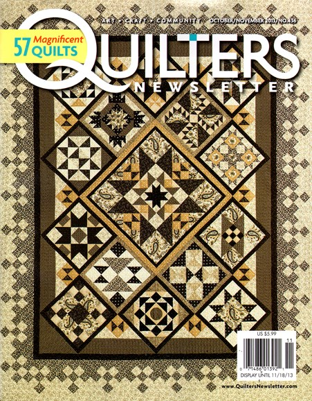 Quilter's Newsletter Cover - 10/1/2013
