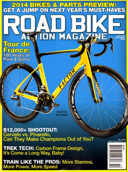 Road Bike Action Cover - 10/1/2013