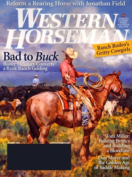 Western Horseman Cover - 10/1/2013