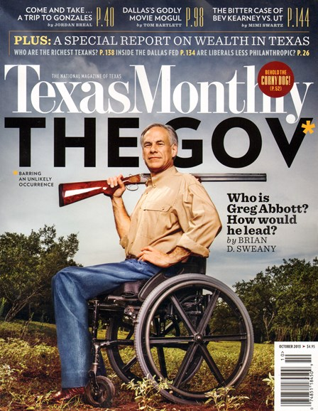 Texas Monthly Cover - 10/1/2013