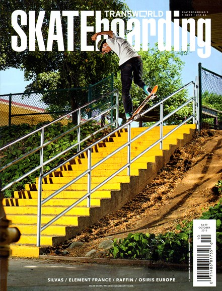 Transworld SKATEboarding Cover - 10/1/2013