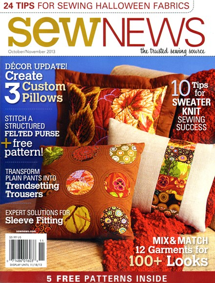 Sew News Cover - 10/1/2013