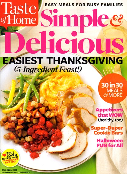Simple & Delicious Cover - 10/1/2013