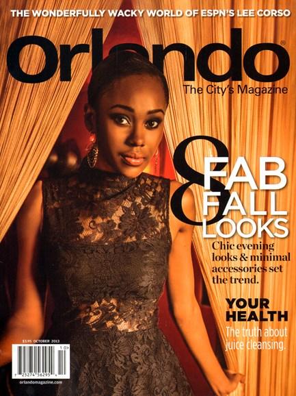 Orlando Magazine Cover - 10/1/2013