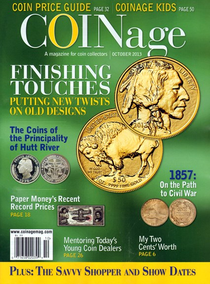 Coinage Cover - 10/1/2013